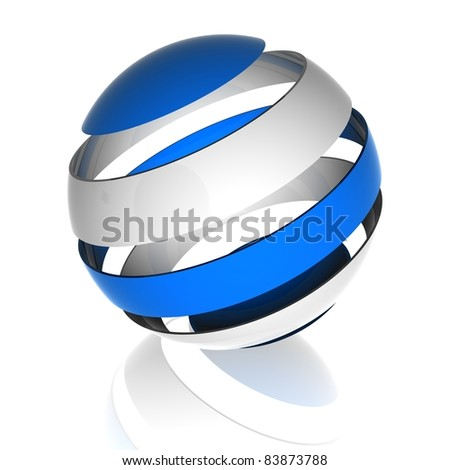 three dimentional Sphere design - stock photo