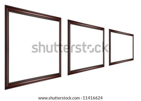 Three Empty Frames - stock photo