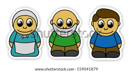 three figures for childern theater - stock photo