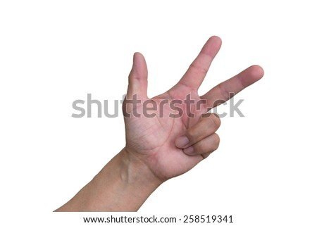 Three Fingers - stock photo