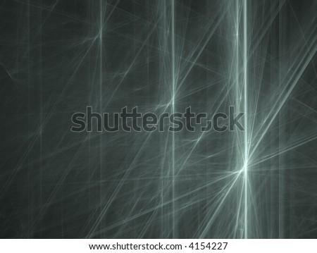 three fractal stars - stock photo