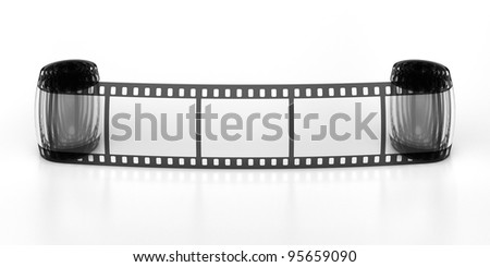 Three frames of the filmstrip - stock photo
