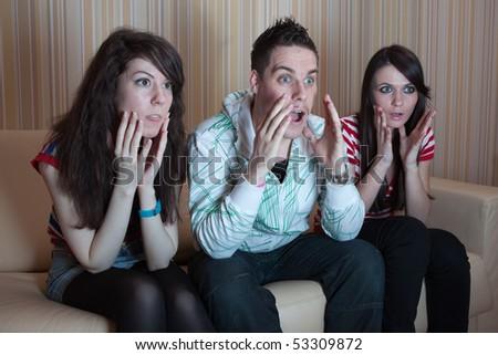 Phrase... super, Three friends on couch xxx