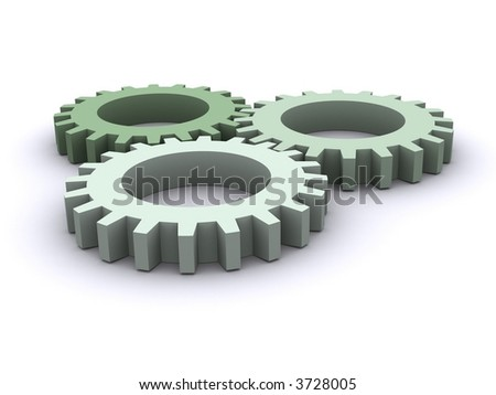 Three Gears - stock photo