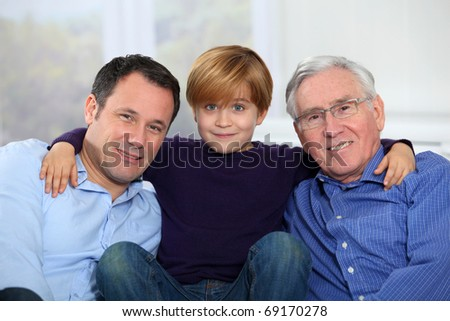 Three-generation family portrait