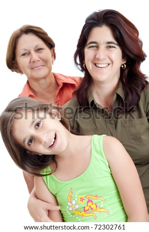 Three generations of hispanic women - stock photo