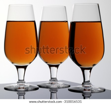 THREE GLASSES OF CALVADOS