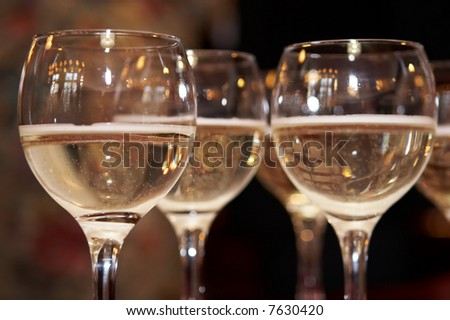 Three glasses of champagne
