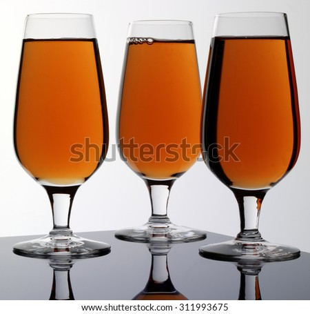 THREE GLASSES OF SHERRY