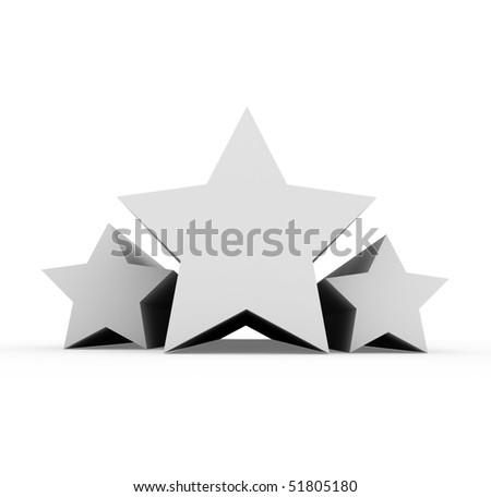 three gray stars - stock photo
