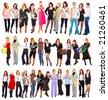 three groups of people - stock photo