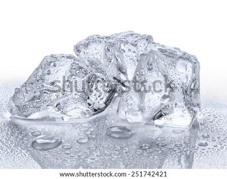 Three ice cubes - stock photo