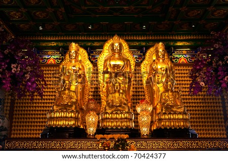 Three immortal of Chinese images - stock photo