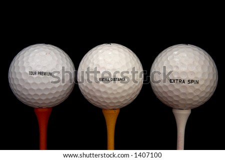 three in a line - stock photo