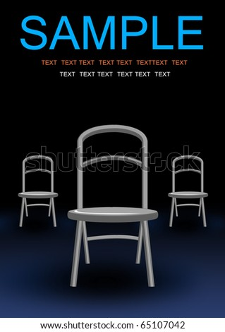 three investigate chair illustration background - stock photo