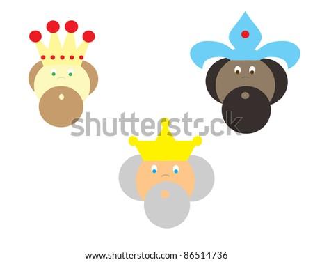 three kings - stock photo