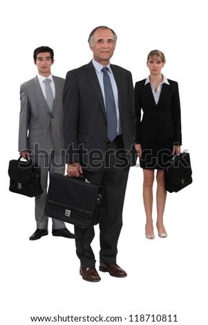 Three lawyers - stock photo