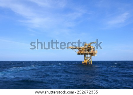 Three Legged Oil and Gas Production Platform