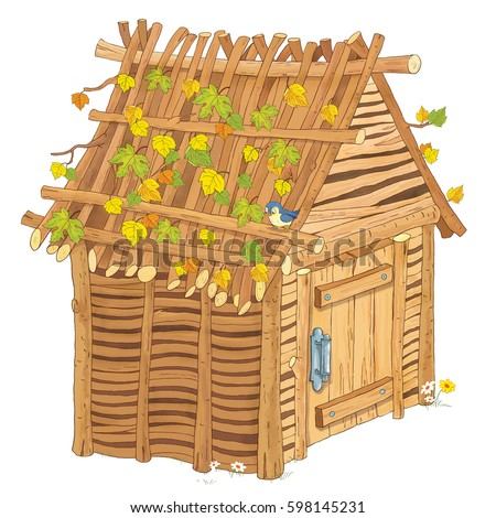 "Haso's ""Three little pigs"" set on Shutterstock House Made Of Sticks Cartoon"