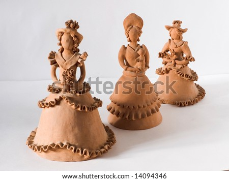 three loam woman - stock photo