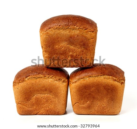 Three loaves of rye bread