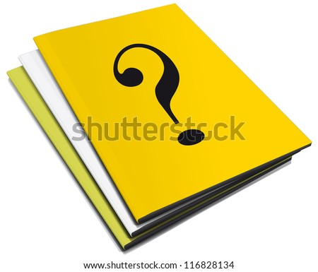 Three manuals with question mark
