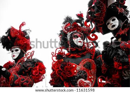 Three mask in Venice, Italy. - stock photo