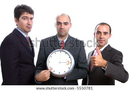 three men and a clock