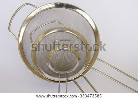 Three Metal Sieves