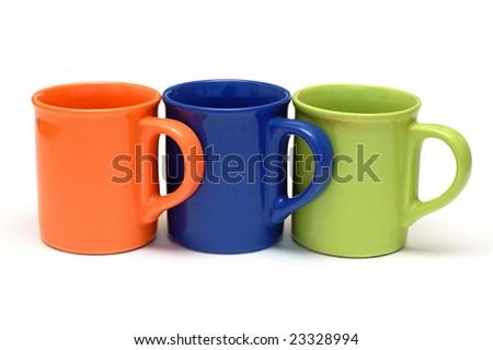Three mugs - stock photo