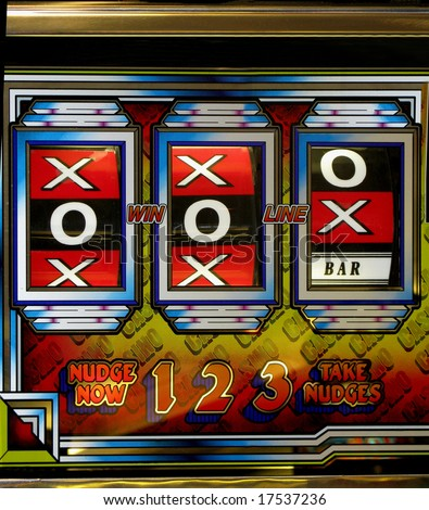Three nudges giving you a Jackpot winnings - stock photo