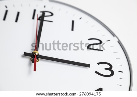Three o'clock - stock photo