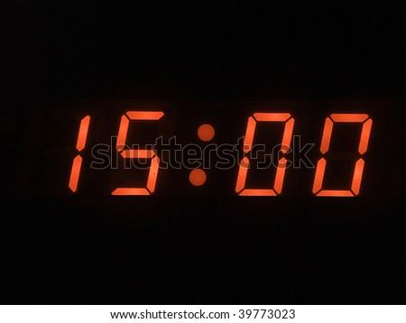 three o clock pm - stock photo