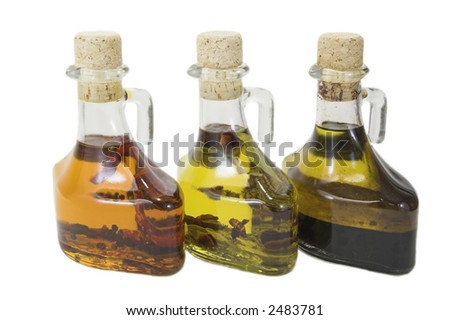 Three oils - stock photo