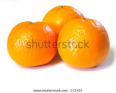 three oranges - stock photo