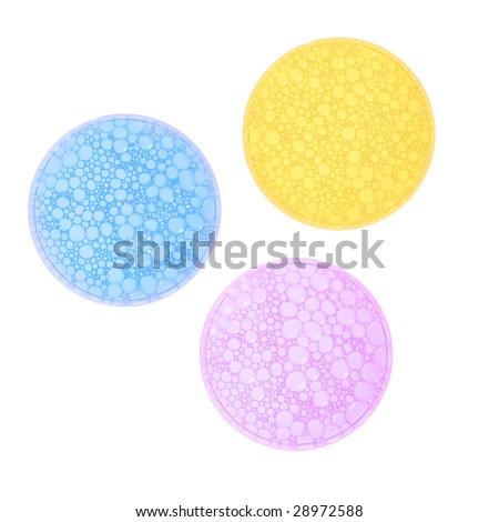 Three petri glass dish - stock photo