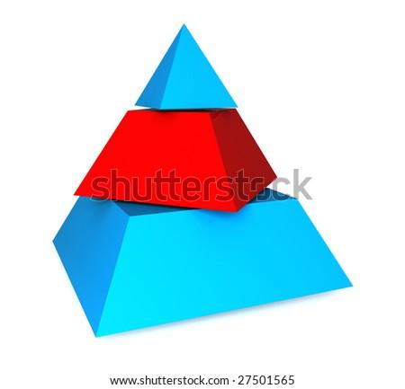 Three pieces pyramid - stock photo