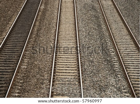 Three Railway Tracks Running Parallel to Each Other