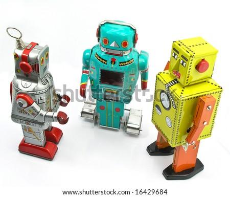 three retro toys - stock photo
