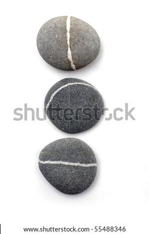 Three sea round isolated - stock photo