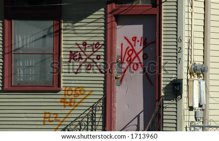 Three Searches After Hurricane Katrina - stock photo