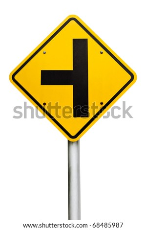 Three separate signs on the white background. - stock photo
