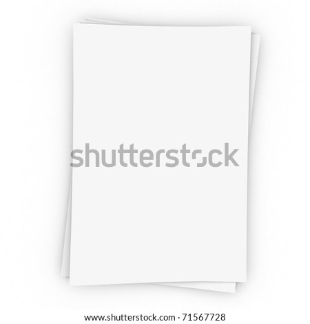 Three  sheets of memo papers isolated on white. - stock photo