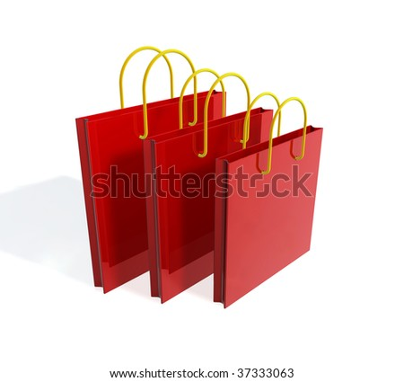 three shopping bags - stock photo
