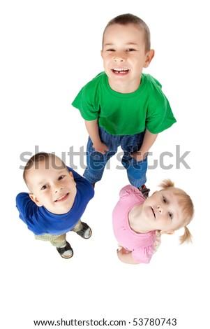 three siblings - stock photo