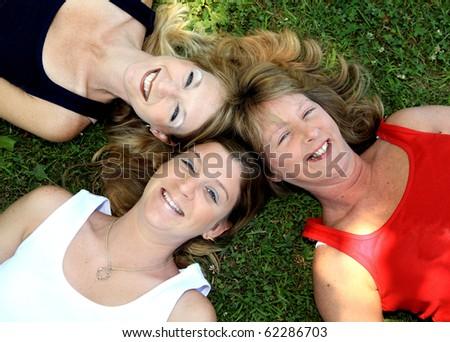 Three Sisters Best Friends 2 - stock photo