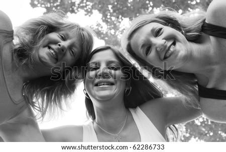 Three Sisters - Best Friends 3 - stock photo