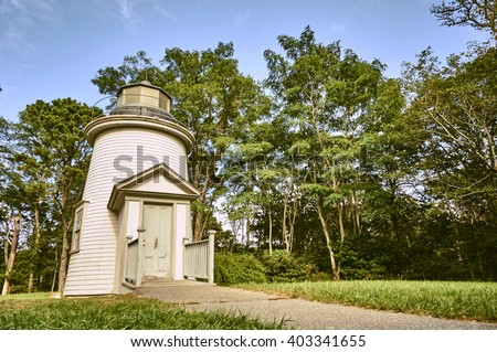 Three sisters - Cape cod lighthoses - stock photo