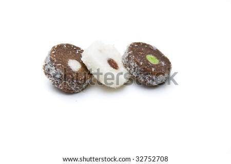 Three slices of coco rod - stock photo