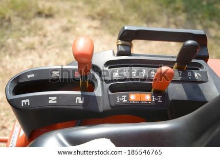 Three Speed Tractor Gearshift Knob  - stock photo